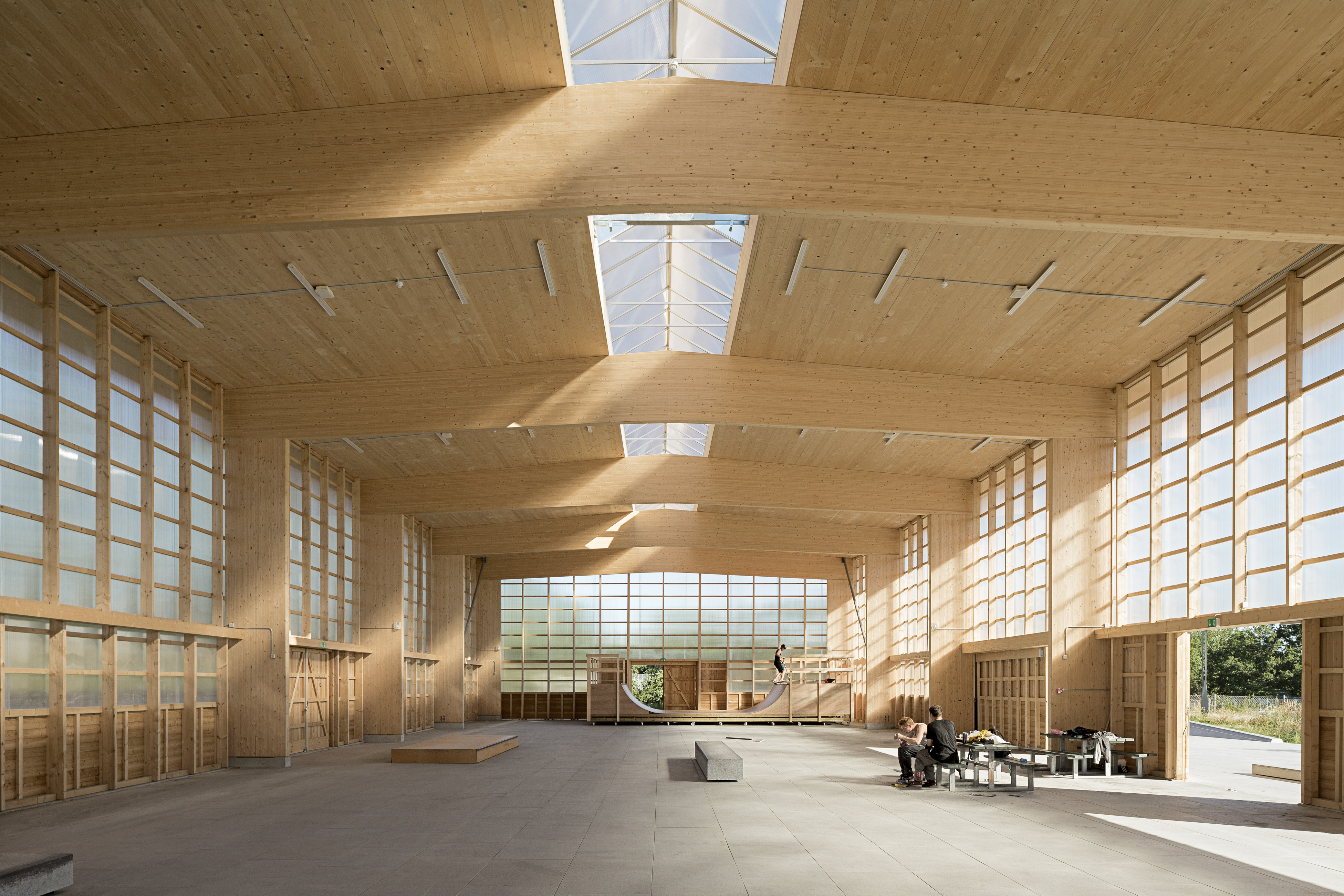 Photo of Gymnasium for street sports by Vandkunsten Architects. Photo credit: Mads Frederik.