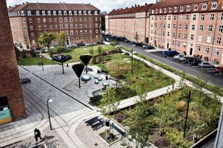 Photo of Taasinge Square by GHB Landscape Architects. Photo credit: Steven Achiam